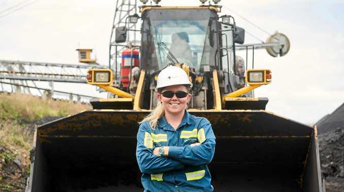 ON THE JOB: Dalrymple Bay Coal Terminal operator Melanie Patroni on site.