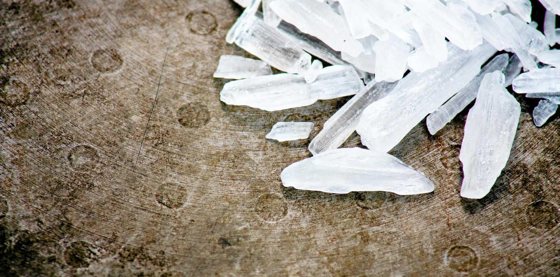 A man has been arrested after he was caught with a bum bag full of ice.