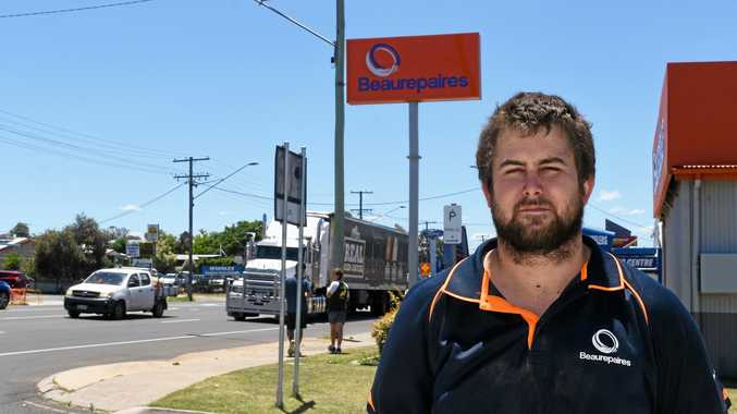 Beaurepaires Warwick manager Jason Duignan is concerned workers may lose their jobs if work doesn't pick up.
