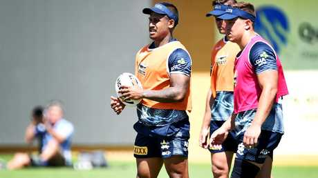 Ben Barba in action at Cowboys' training.