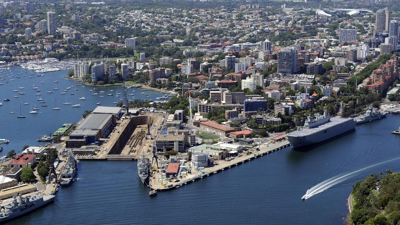 ScoMo said he would keep Garden Island exclusively for the Navy and has no plans to change that.