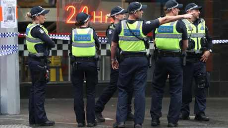 Police in Bourke St, Melbourne on November 09, 2018 in Melbourne, Australia. Picture: Robert Cianflone/Getty Images