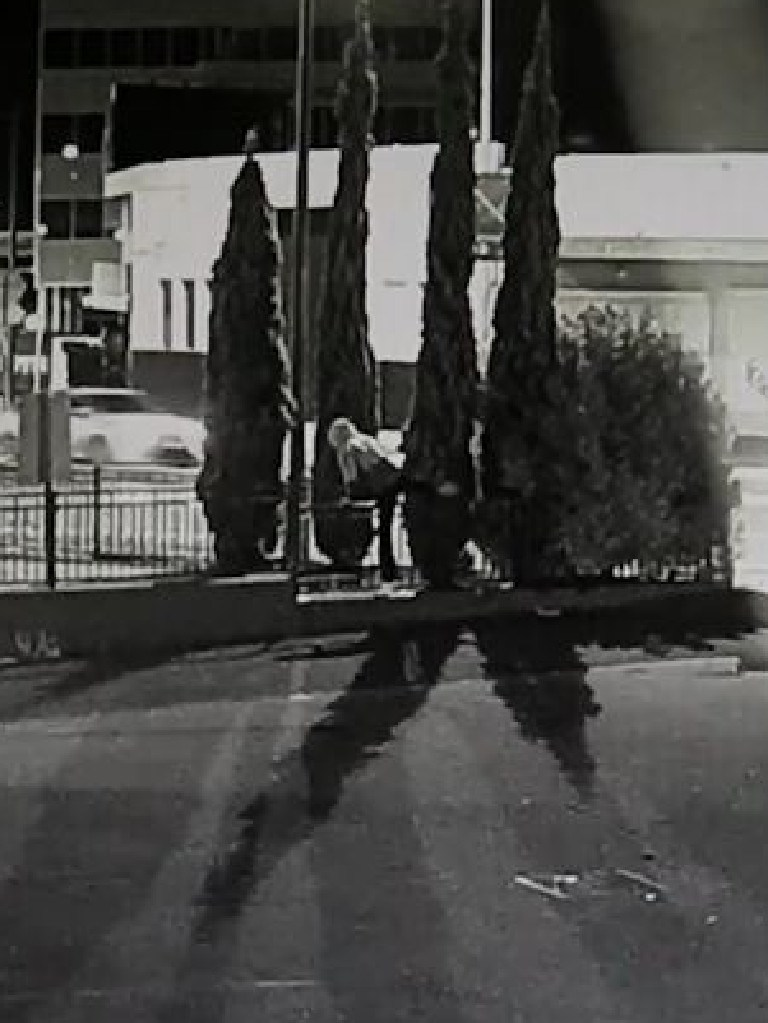 CCTV captured a man jumping the fence. Picture: NSW Police