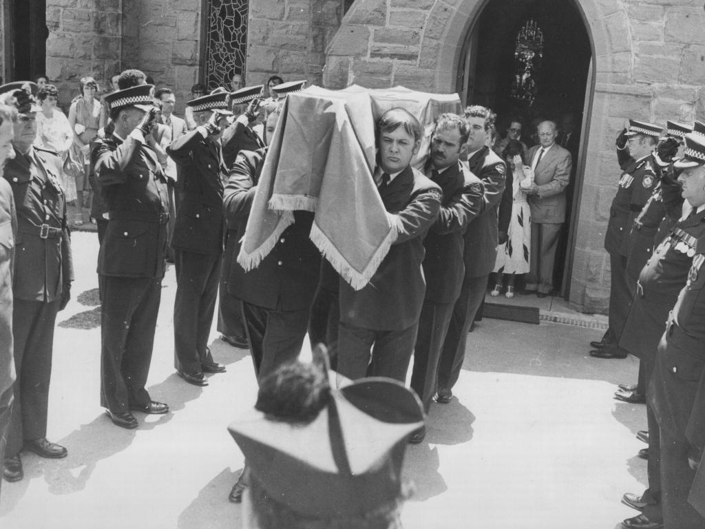 Sergeant Keith Haydon's funeral.