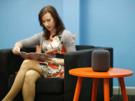 Always listening … The new Apple HomePod was released earlier this year. Picture: AAP