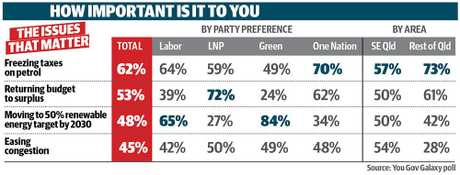 Here's what Queenslanders think are the big issues before the next federal election.