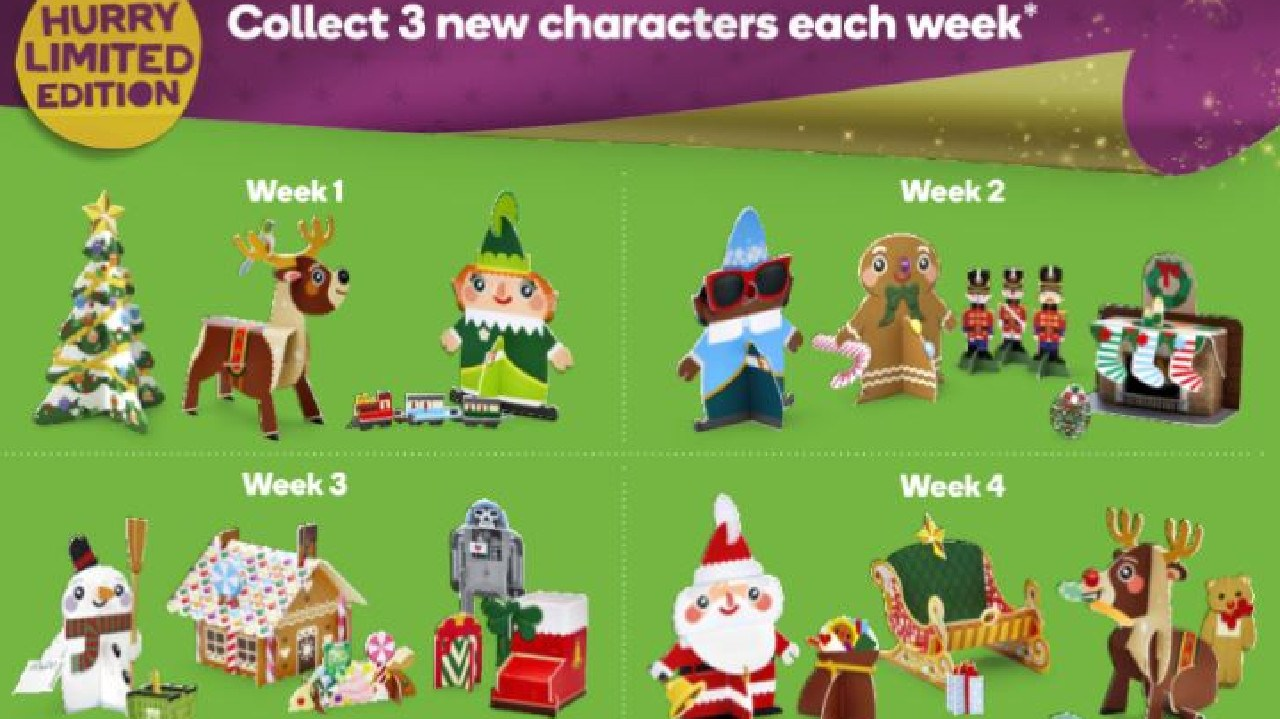 Woolworths is releasing a range of Christmas Pop-Outs. Picture: Supplied