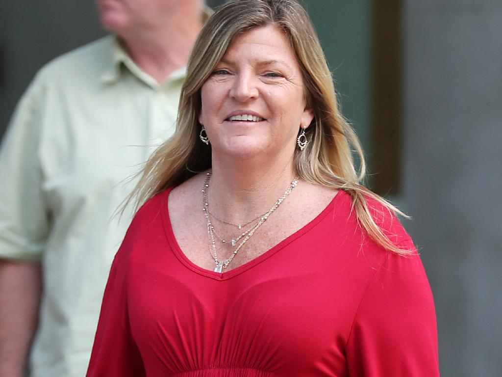 Clancy Shannon's mother Donna Shannon outside Brisbane District Court. Picture: Liam Kidston