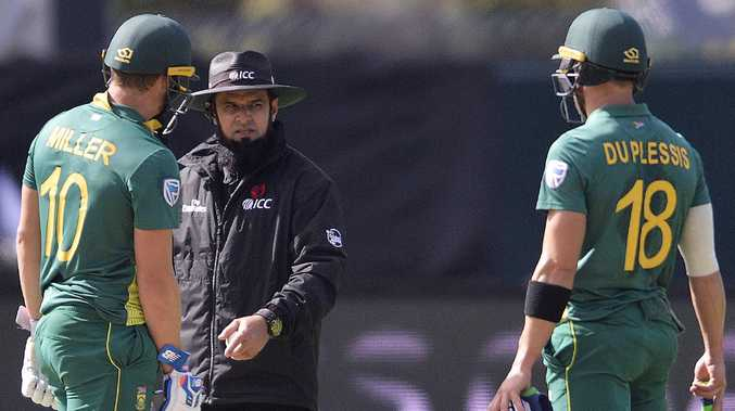 Faf du Plessis says he called for the review eight seconds before it went upstairs.