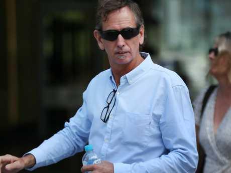 Clancy Shannon's father Mark Shannon outside Brisbane District Court Picture: Liam Kidston