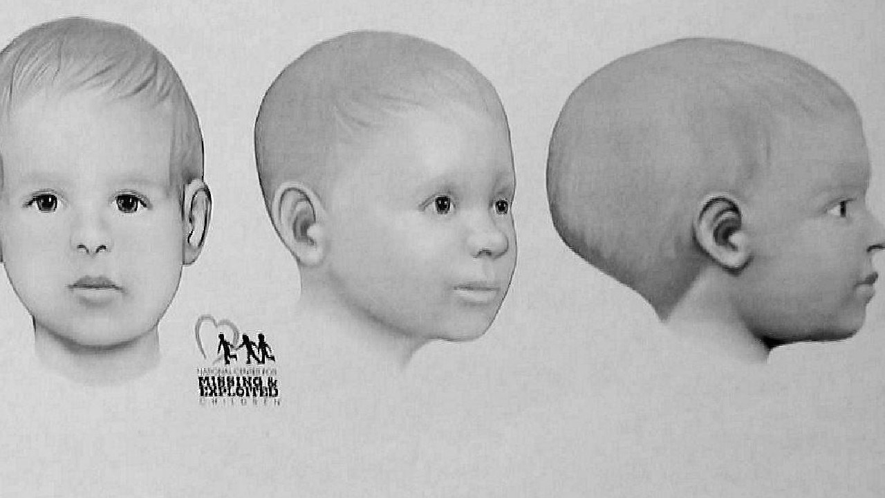 A composite image from San Diego Police of 'Baby Doe'. Picture: Supplied