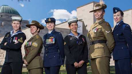 Women from the Defence Forces are depicted wearing medals on their left during the video. Source: YouTube