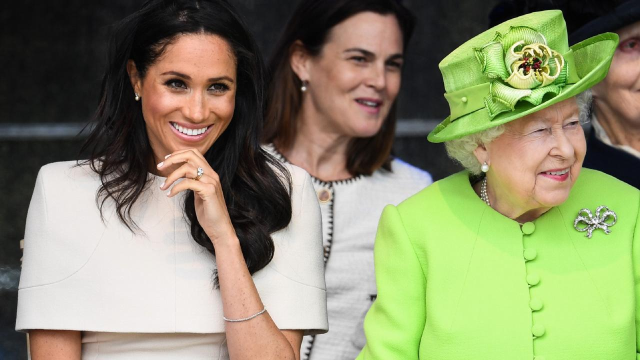 Samantha Cohen accompanied Meghan and the Queen on their first joint engagement earlier this year. Picture: Jeff J Mitchell/Getty Images