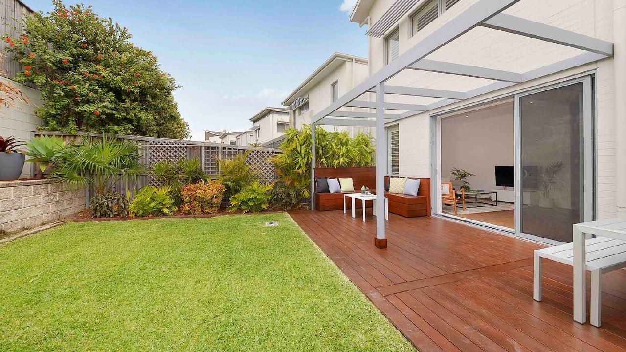 The backyard of 12 Fairsky St in South Coogee.