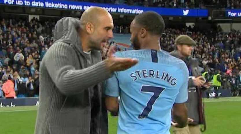 Pep Guardiola berated Raheem Sterling for his showboating antics