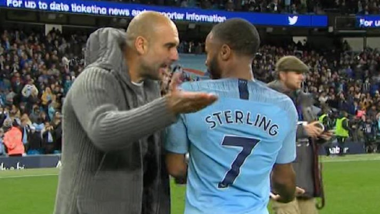 Pep Guardiola berated Raheem Sterling for his showboating antics