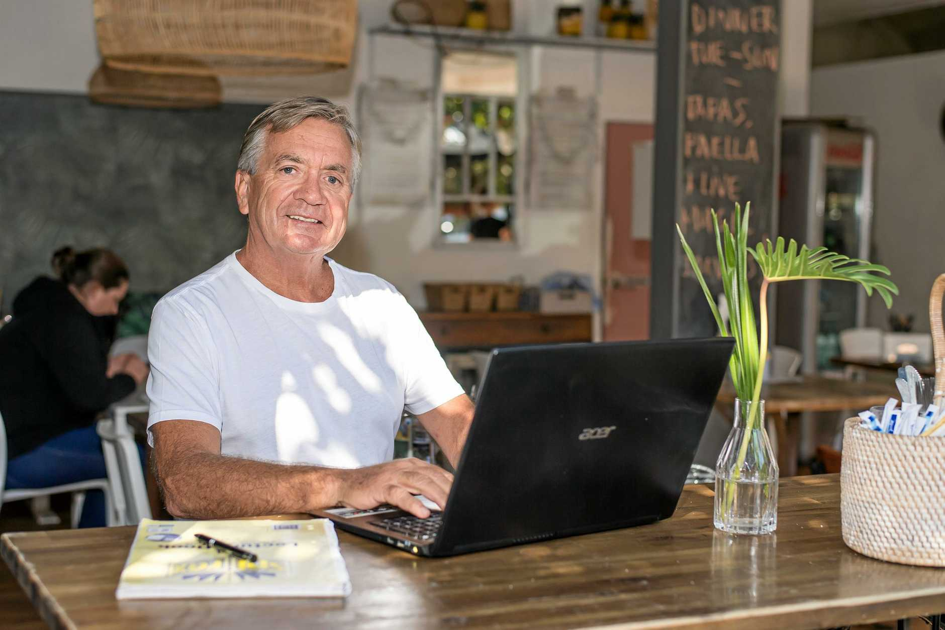 Noosa's Greg Holman has penned a fiction book loosely based on his life.