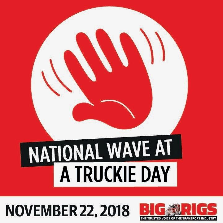Wave at a truckie day logo