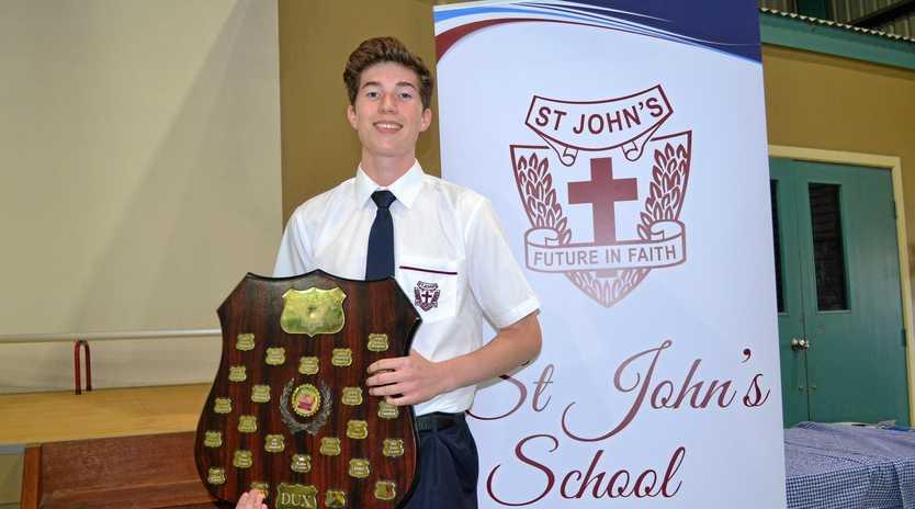 DUX: Thomas Brennan was awarded the 2018 St John's Dux of the school.