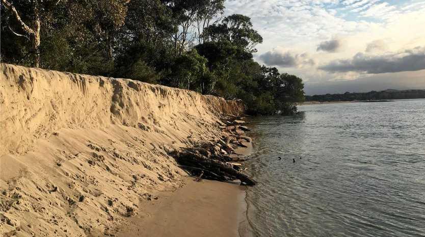 Erosion at Dog Beach