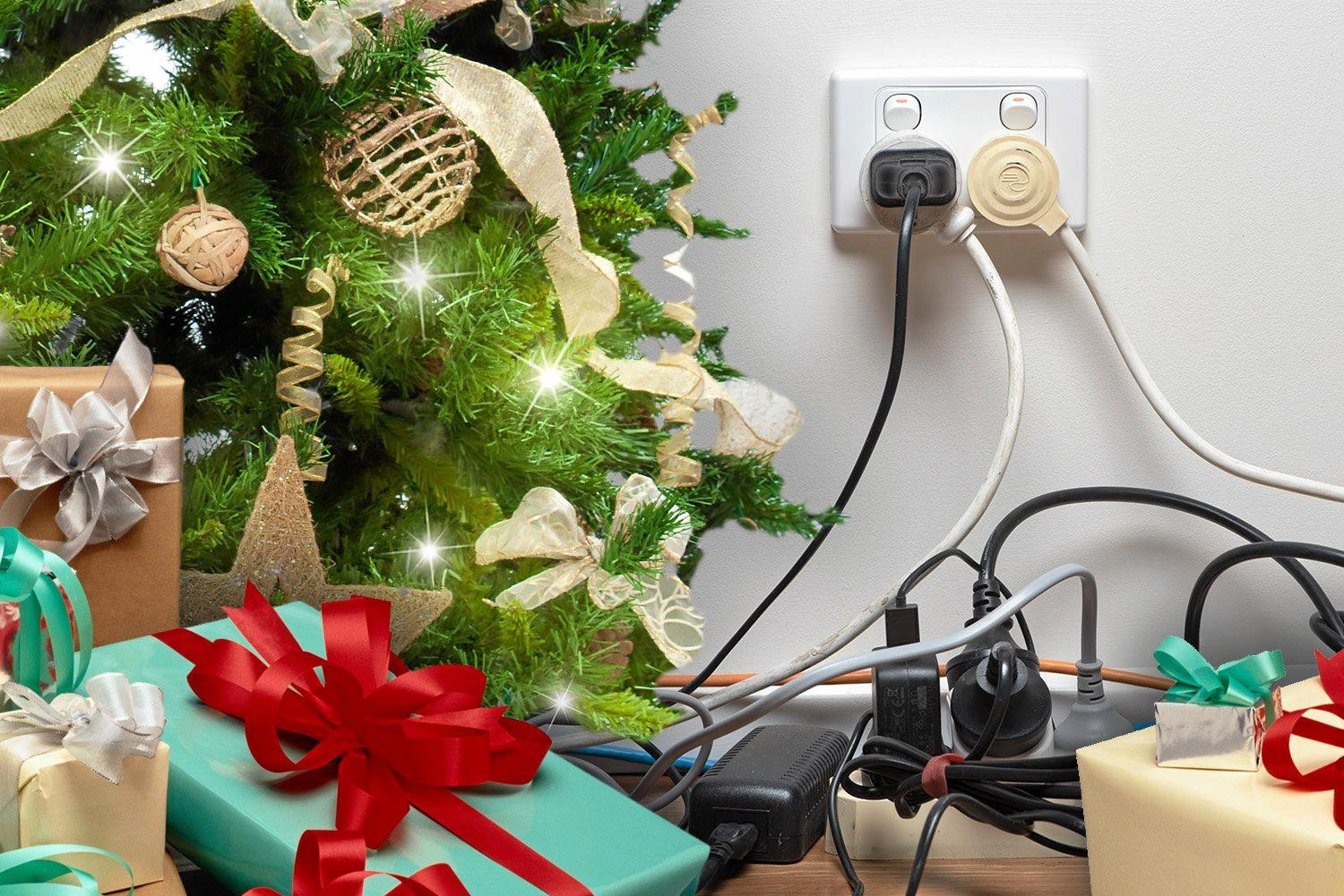 A set of dodgy online Christmas lights have turned into a high-voltage