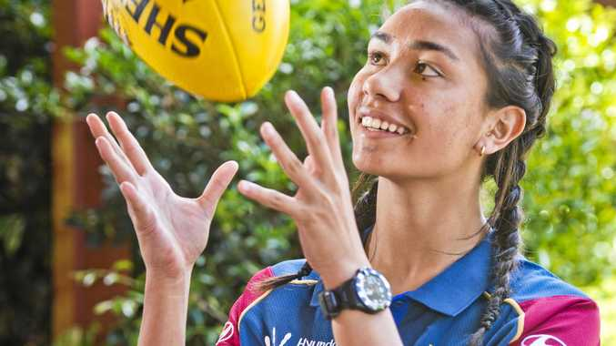 FORWARD STRIDES: Sixteen-year-old Concordia Lutheran College student and Dalby Swans junior Zimmorlei Farquharson was one of 48 players from across the country chosen into the AFLW Academy.