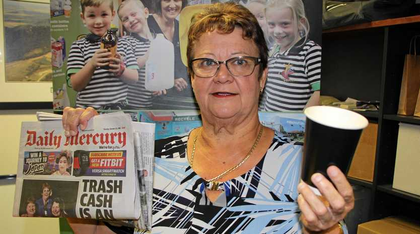 KNOWLEDGE IS POWER: Cr Karen May is encouraging Mackay residents to test their recycling knowledge on council's Facebook page as part of National Recycling Week.