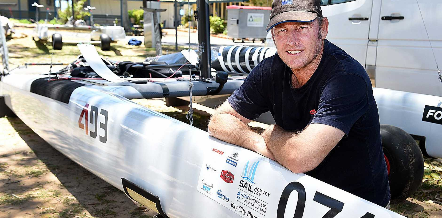 ICON: Australian sailing icon Andrew Landenberger will be among those competing at the Sail Hervey Bay A-Class Catamaran National and World Championships this fortnight. He won a silver medal at the Atlanta Olympic Games in 1996.