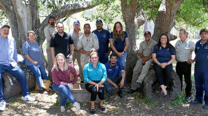 CARBON PROJECT: Dr Kerry Blackman and Laura Sutton with the Gidarjil Land and Sea Ranger team. Together they have registered a carbon farming project under the Australian Government's Emissions Reduction Fund.