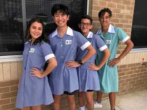 Students dress up for education rights