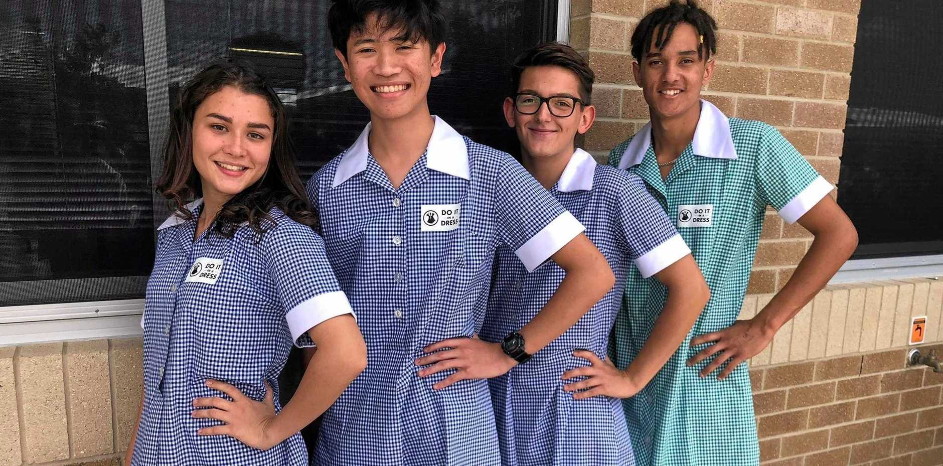 Mackay Northern Beaches SHS students Catherine Goode, Sirach Santos, Sev Sewell and Isaac Pooley.