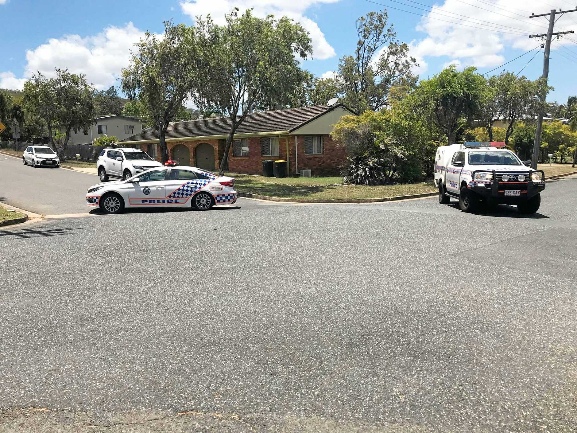 Police blocked off a residential area of Frenchville on Tuesday to manage a police incident.