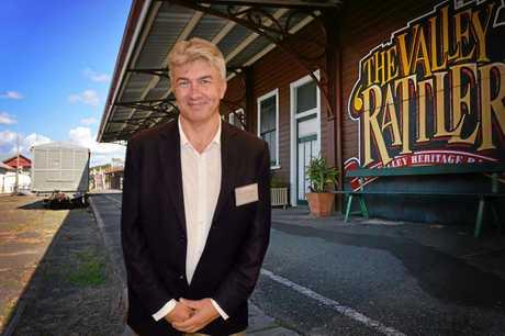 The Valley Rattler to get back on track Gympie Volunteers Peter Blashki.