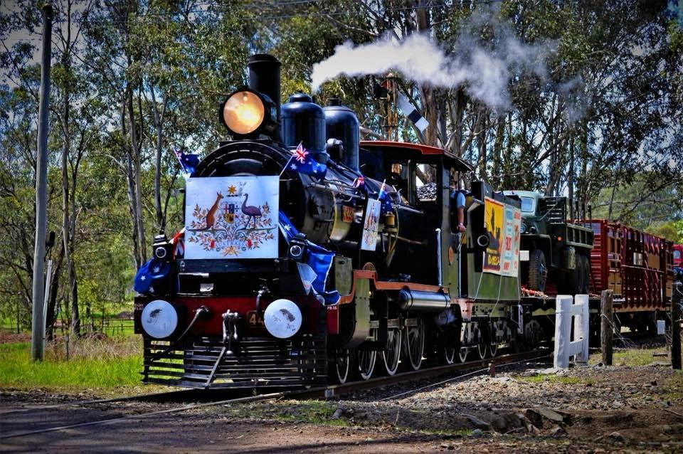 Troop train at Swanbank.