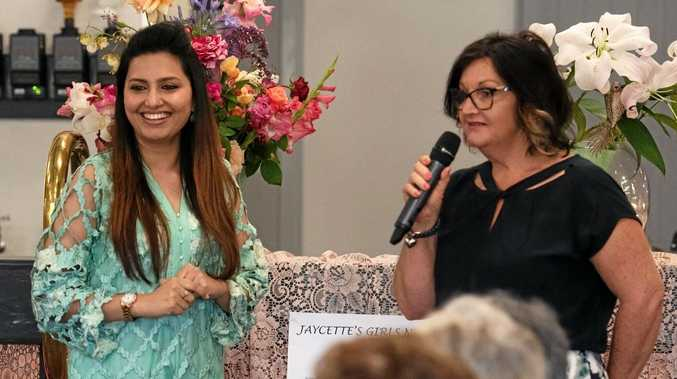 AWARENESS: Dr Bushra Mumtaz, with Gayle Pott, spoke at Mundubbera Jaycettes' biggest annual Girls Night In yet, which raised money for Cancer Council Queensland.