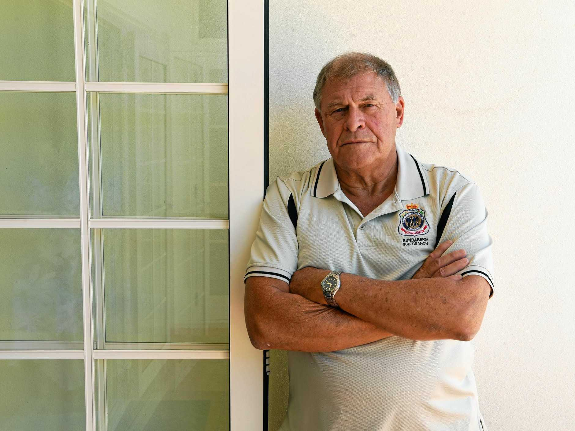 DISGUSTED: Ex-serviceman and former RSL Sub Branch treasurer Tony Kimber is fuming.