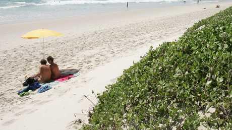 "Tyagarah Beach, north of Byron Bay is a ""clothing optional"" beach. Pic: Adam Head."