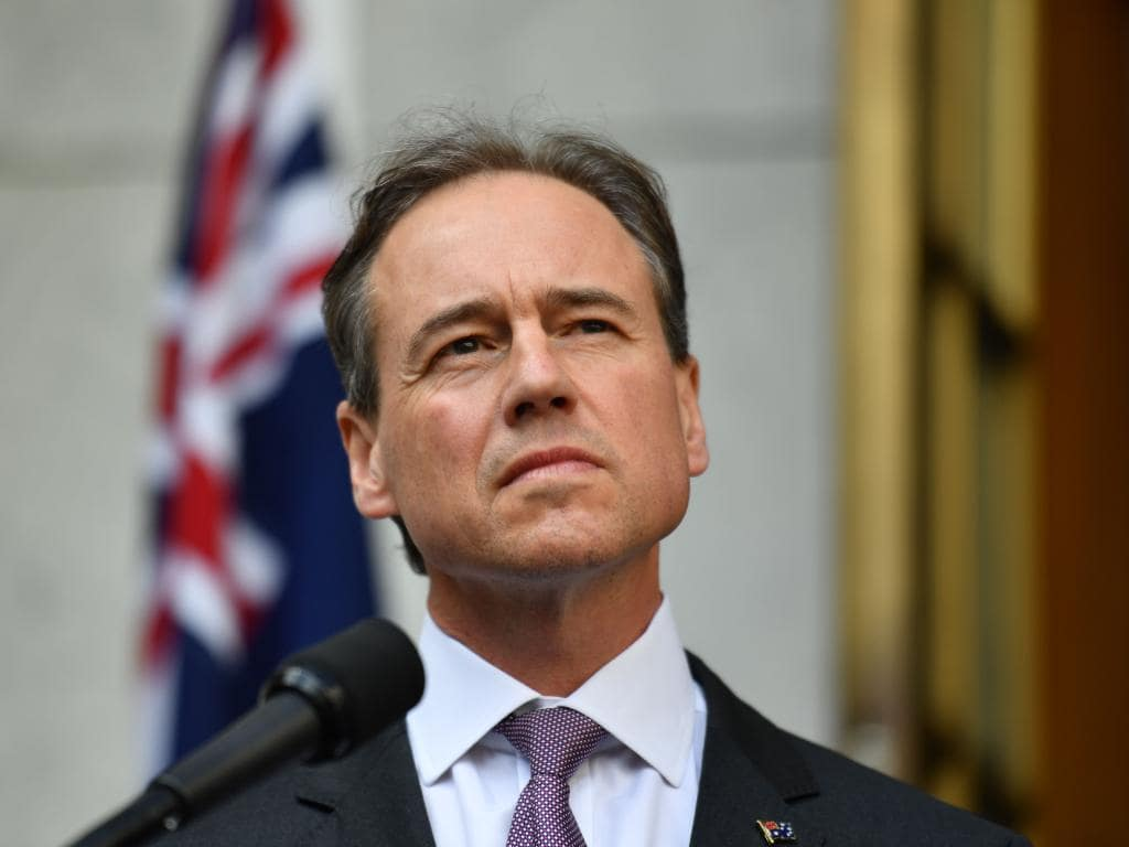 Minister for Health Greg Hunt speaks during a press conference announcing a Royal Commission into Aged Care at Parliament House in Canberra, Sunday, September 16, 2018. (AAP Image/Mick Tsikas) NO ARCHIVING