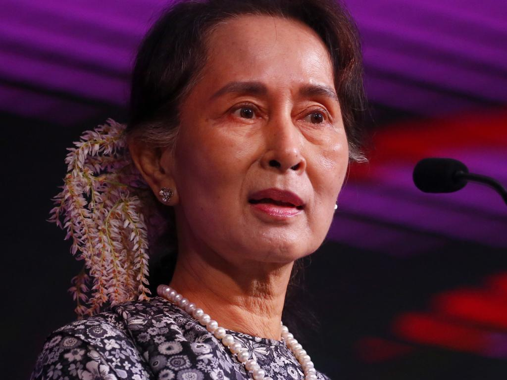 Aung San Suu Kyi was hailed a hero after spending 15 years under house arrest for standing up to her country's military junta. Picture: AP