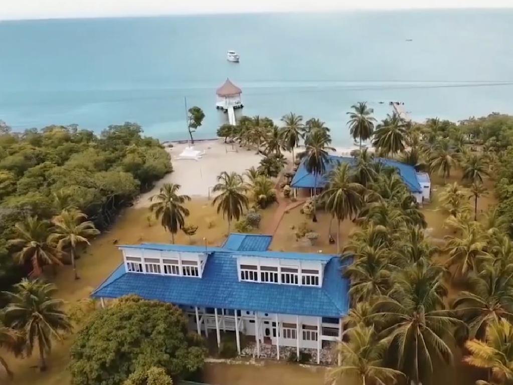 The island itself.