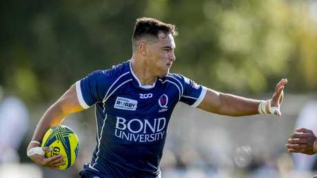 Jordan Petaia in action for Queensland Country in the National Rugby Championship. Picture: Jerad Williams