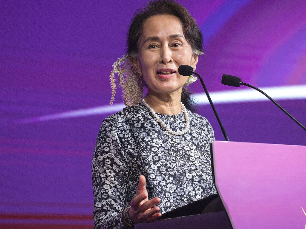 Suu Kyi was globally hailed as a freedom fighter who stood up to her country's feared military junta. Picture: Getty