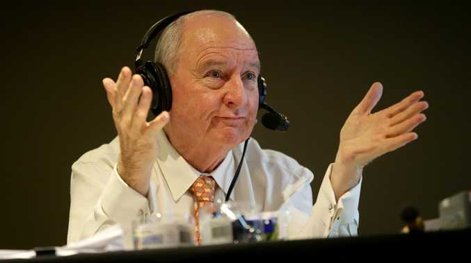 2GB radio host Alan Jones has been forced off the air indefinitely due to severe back pain. Picture: Jonathan Ng