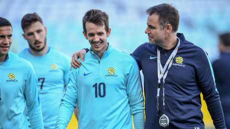 Ante Milicic (R) is now the Socceroos' chief scout