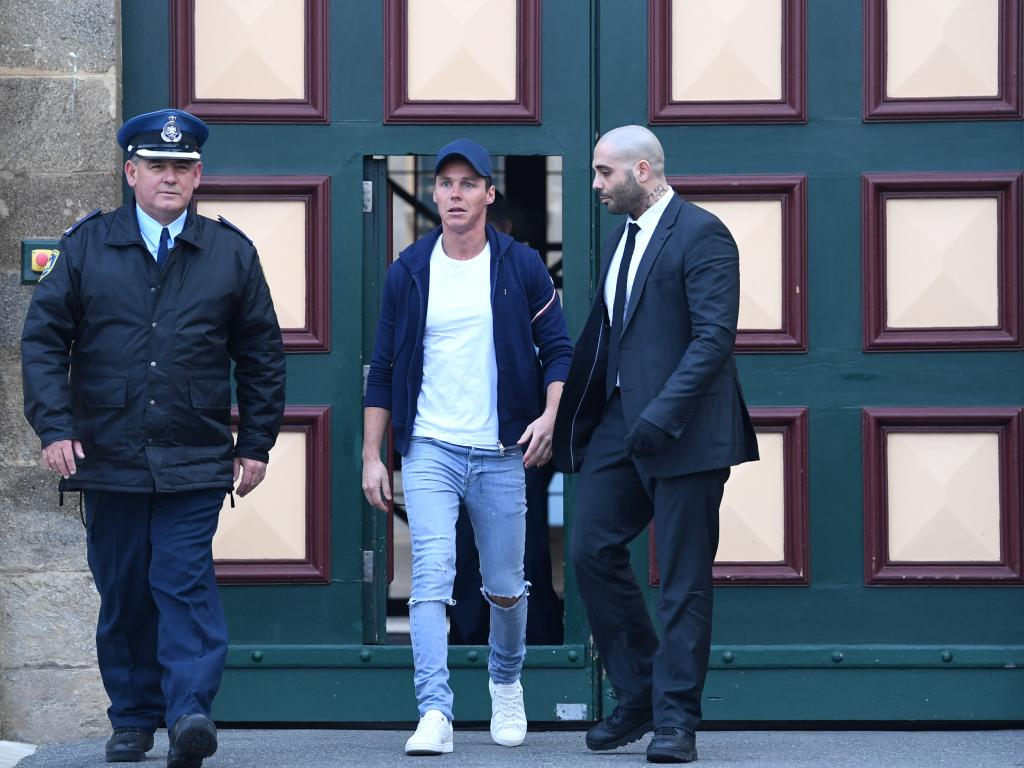 Oliver Curtis leaves Cooma prison where he was better behaved than Salim Mehajer inside the former mental asylum. Picture: Lukas Coch.