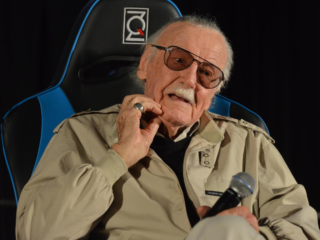Stan Lee pictured in Sydney in 2017. Picture: AAP