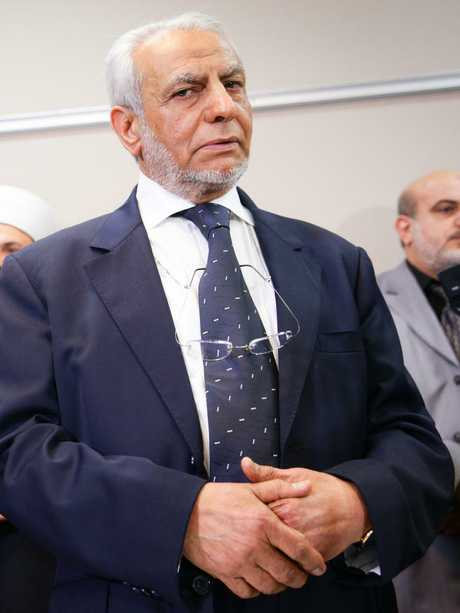 But Grand Mufti of Australia Ibrahim Abu Mohamed hit back saying it shouldn't be their job and blamed the attack on security agencies. Picture: Renee Nowytarger