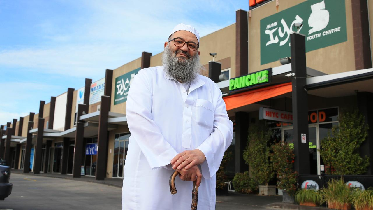 Sheik Mohammed Omran pictured at the Hime Islamic Youth Centre in Coolaroo. Aaron Francis/The Australian