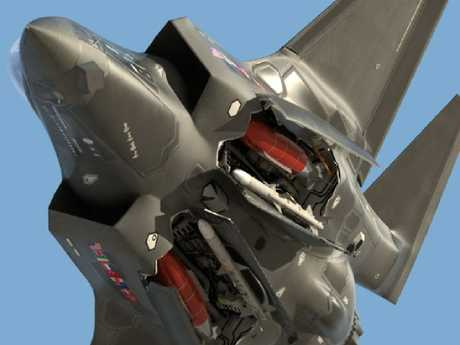 An F-35 displays its weapons bays. It's ability to target the weapons it carries is under question.