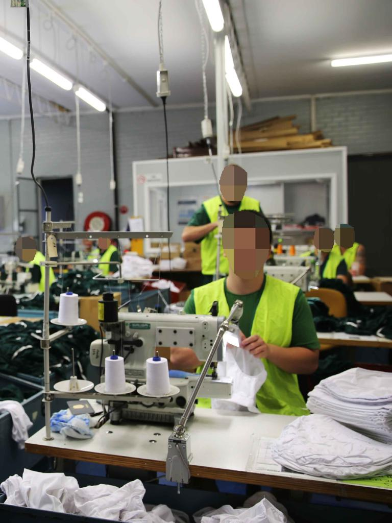 Cooma jail inmates make prison underpants.